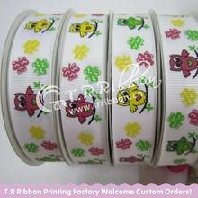 grosgrain ribbon wholesale, 100% polyester Ribbon, birds printed ribbon