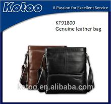 2015 wholesale black color genuine leather man business bag