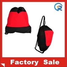 fashion polyester material drawstring bag/custom reusable bag /drawstring bag from wenzhou china factory