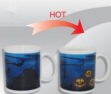 Promotion Halloween creative ceramic magic mug gift