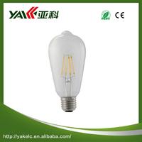 High brightness ST64 emergency led bulb light with built-in battery E27