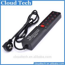 USB 10 Port USB Charger HUB Mobile phone charger AC/DC Charging HUB 5V 2A