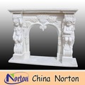 sitting nude children and flowers marble indoor fireplace NTMF-F130