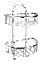 Bathroom hanging basket, semi round bathroom wire soap basket 8814