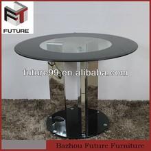pranzo in acciaio inox tavolo basamenti per piani in vetro