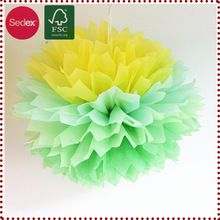 3 Colors Pom pom Ball Pom Tube Supplier for Decoration