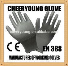 CY 13G knitted nylon coated nitrile foam gloves EN388