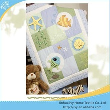 Brand new baby quilt the bed embroidered