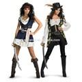 Caribe traje pirata mulheres sassy jack sparrow adulto trajes casais qawc- 2443