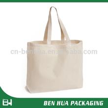 Fashion Design Organic Plain Canvas Tote Bag