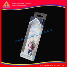 various shape Luxury earphone packaging with handle/clear pvc plastic window display