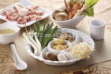 White melamine chafing dishes for hot pot restaurant