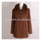 Women 100% Cashmere Coat Model