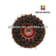 round steel brush, steel brush wheel for specail shape stone