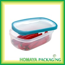 Microwavable PP rectangular plastic food storage container