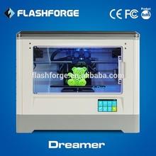 Flashforge 3d printer dual extruder ABS PLA filament WIFI connection suppliers mould model big 3d printer
