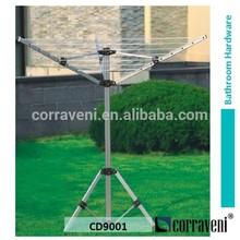 houseware aluminium outdoor 18m,3 arms aluminium tube clothes dryer rack rotary airer CD9001