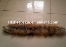 2014 Genuine Brown Color Dyed Raccoon Big Fur Collar Coat