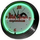 Kid cave neon wall clock