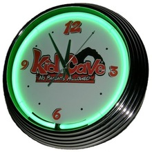 Kid cave neon wall clock
