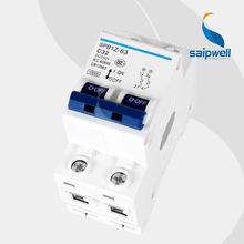 SAIP/SAIPWELL New 250/440V 63A IP65 Plastic Electrical DC 2P mini Circuit Breaker