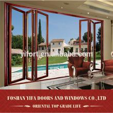 Modern Design Australian Standard Double Glazed lowes glass interior Aluminium Folding Door
