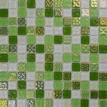 new arrival glass mosaic dark green onyx bathroom tiles