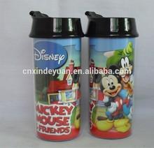 new custom logo mug personalized christmas plastic mug