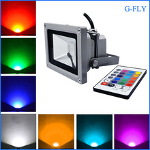 10W RGB 16 Colors LED Floodlight in Outdoor Living Garden Yard Lamp + IR Remote