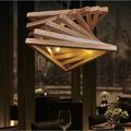 Simples criativo contortive triângulo túnel de madeira maciça de lustres no quarto/sala de estudo/restaurante/