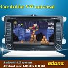 7'' android 4.2.2 indash vw golf 5 dvd navigation