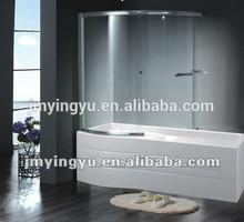 AQSC1502CL 6mm tempered glass bathtub shower screen