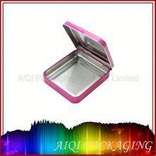 small tin box with sliding lid/rectangular sliding tin packaging/mints metal tin box