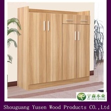 simple design wooden shoe cabinet with 4 doors
