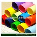 fluorescente de papel de color las hojas o rollos