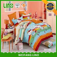 kids cartoon bed sheet/brand print bedding/cartoon bed sheet