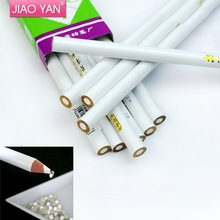 Wholesale White Color Nail Art Designs Rhinestones Gems Picking Pen #4402