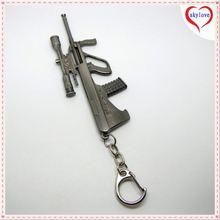 Professional design metal gun keychain with your logo