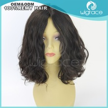 Human hair wig 10inch natural color Stock 100% virgin mongolian Kosher Jewish Wig