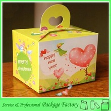 Printing foldable paper cake box with handle