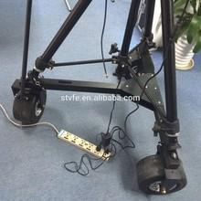 Camera crane 3 wheel off road dolly base kit