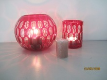 Nice look heat- resistent glass candle holder with favourable price