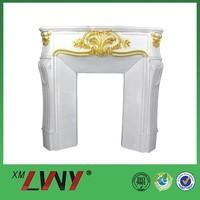 Fiberglass resin white butane fireplace