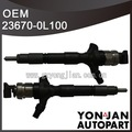 Original de inyectores diesel para toyota hilux 23670- 0l100