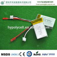 li-ion polymer battery 3.7v 1200mAh 673450 with UL certification
