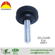 Wholesale furniture threaded metal adjustable plastic feet for chair