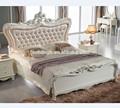 Mobília do de luxo cama de madeira maciça clássico projeto