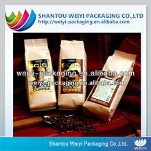 Customized design side gusset laos coffee bag