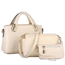 BV9169 Brand new fashion handbags crocodile pattern shoulder bag ladies bag three-piece women bags