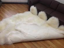 Popular Use Australian White Sheepskin Room Floor Rugs